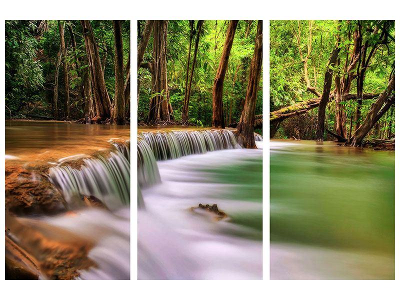 Metallic-Bild 3-teilig Deep Forest
