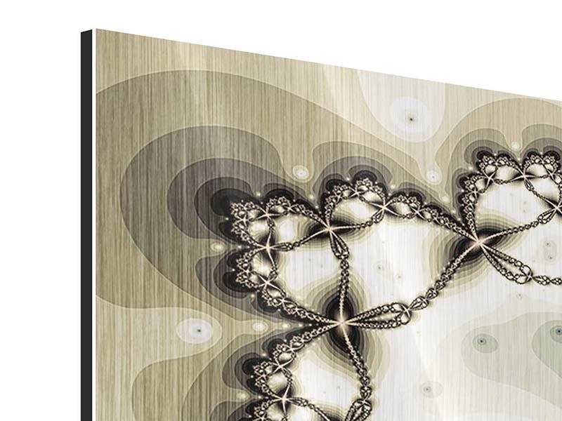 Metallic-Bild 3-teilig Abstrakter Schmetterling