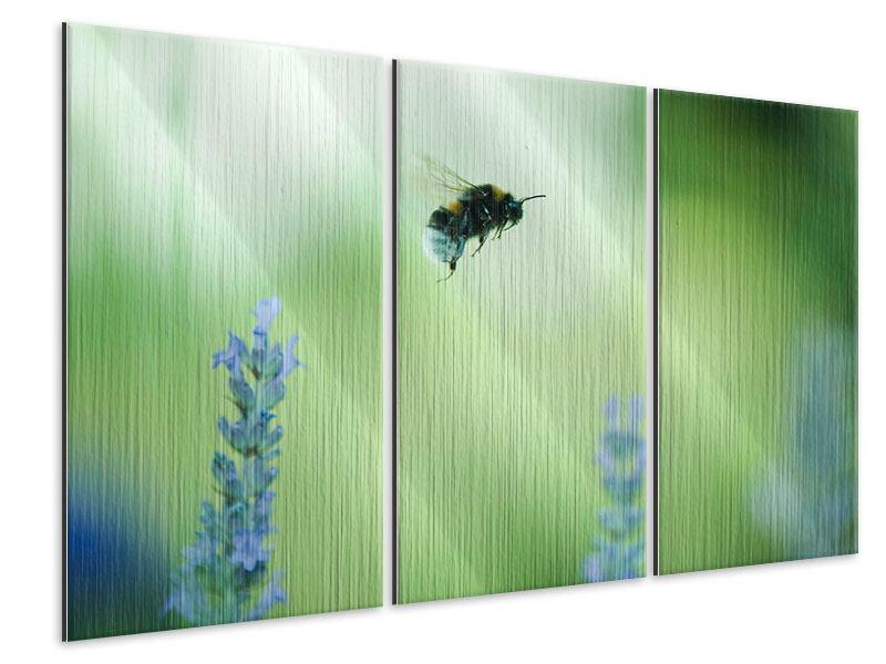 Metallic-Bild 3-teilig Die Biene