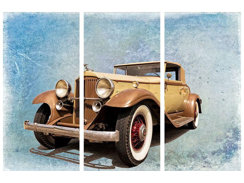 Metallic-Bild 3-teilig Nostalgischer Oldtimer