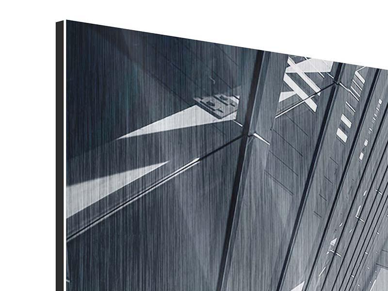 Metallic-Bild 3-teilig Der schwarze Diamant Kopenhagens