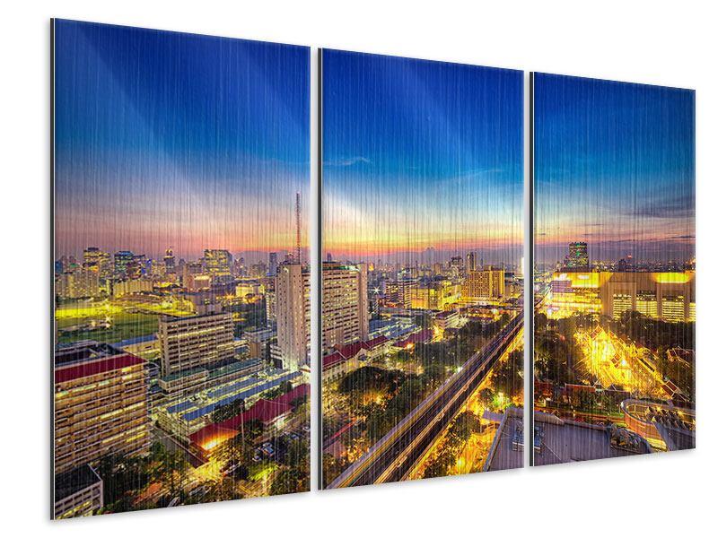 Metallic-Bild 3-teilig Bangkok