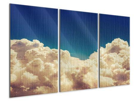 Metallic-Bild 3-teilig Himmelswolken