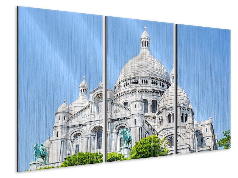 Metallic-Bild 3-teilig Paris- Montmartre
