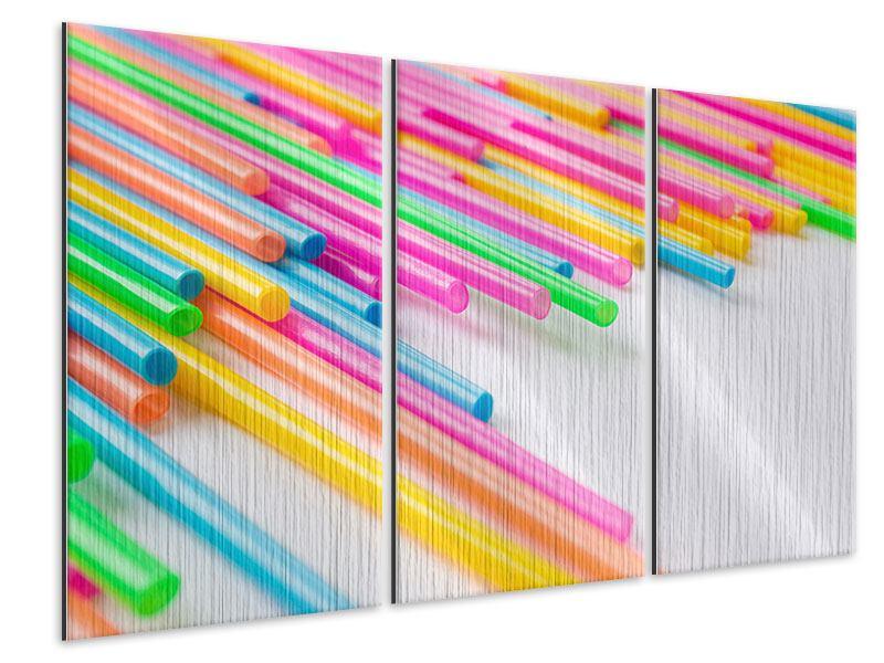 Metallic-Bild 3-teilig Pop Art