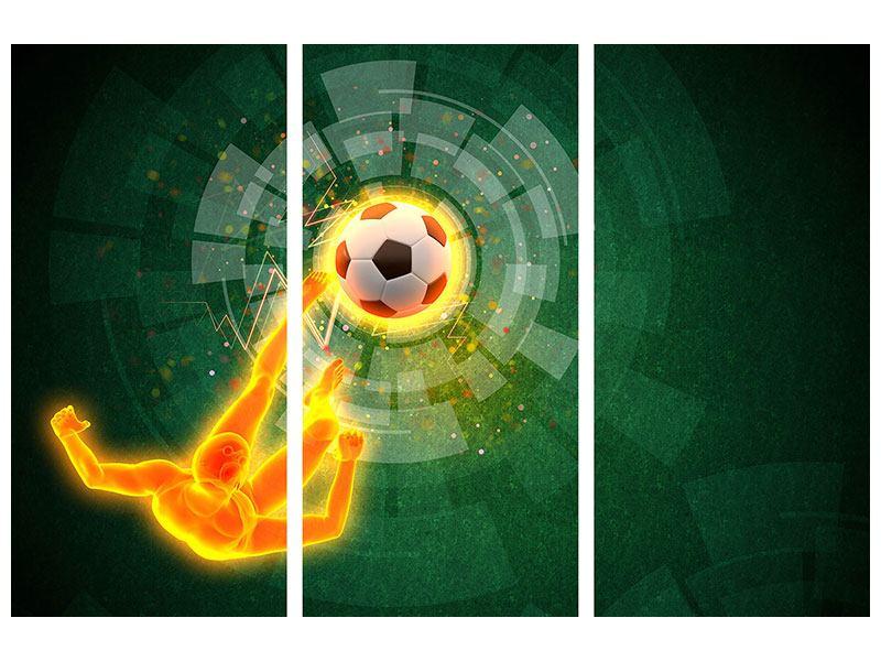 Metallic-Bild 3-teilig Der Kicker