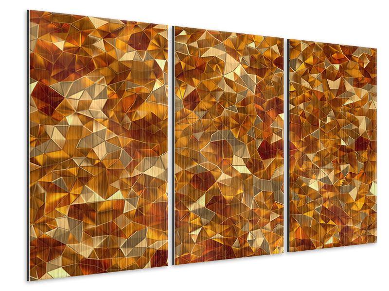 Metallic-Bild 3-teilig 3D-Bernsteine