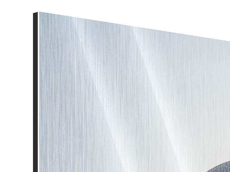 Metallic-Bild 3-teilig Steinbalance