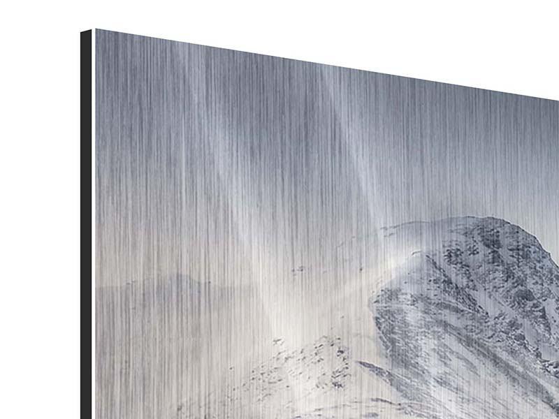 Metallic-Bild 3-teilig Die Berge der Schweiz