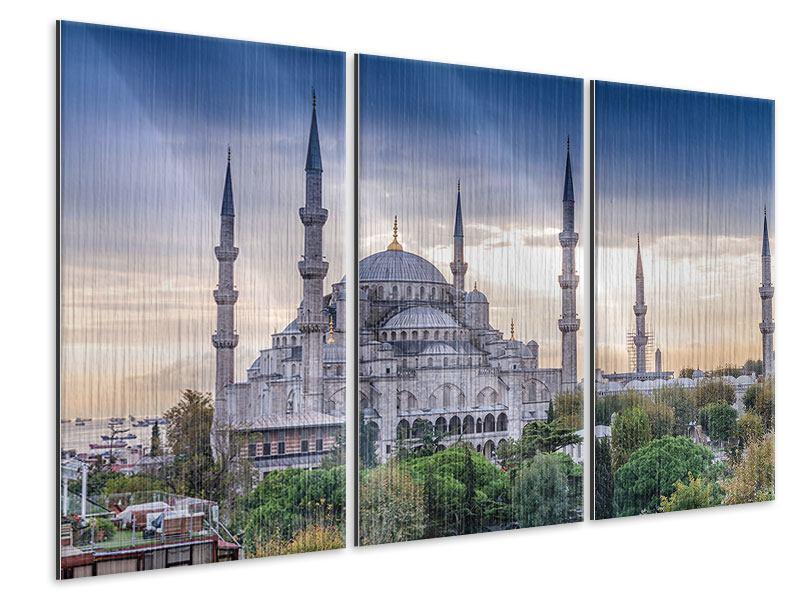 Metallic-Bild 3-teilig Istanbul