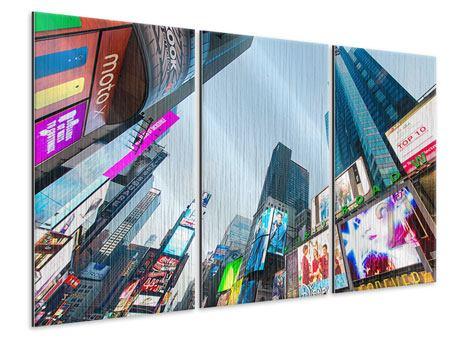 Metallic-Bild 3-teilig Shopping in NYC