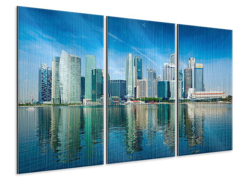 Metallic-Bild 3-teilig Skyline Mexiko-Stadt
