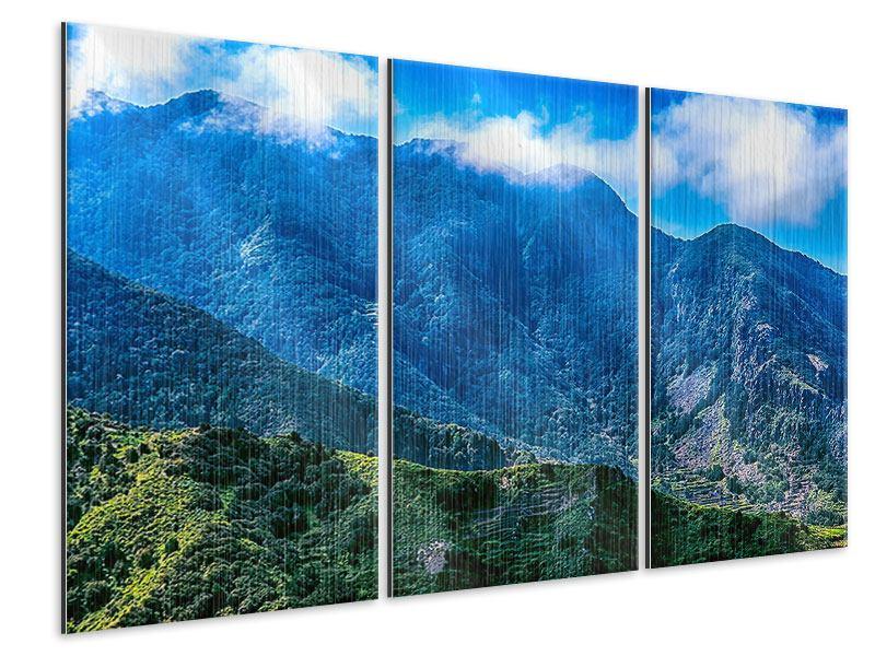 Metallic-Bild 3-teilig Die Berglandschaft
