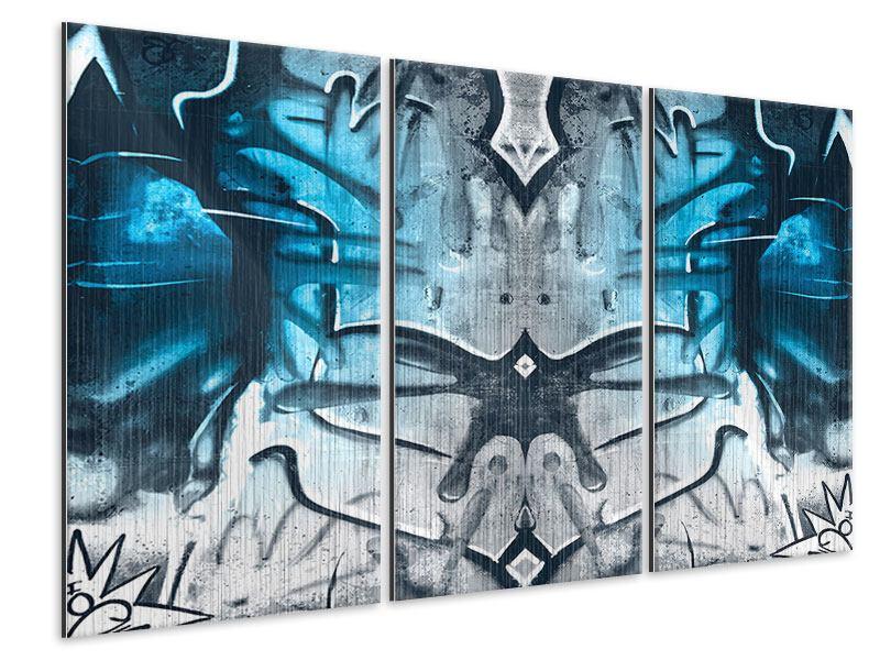 Metallic-Bild 3-teilig Painting On The Wall