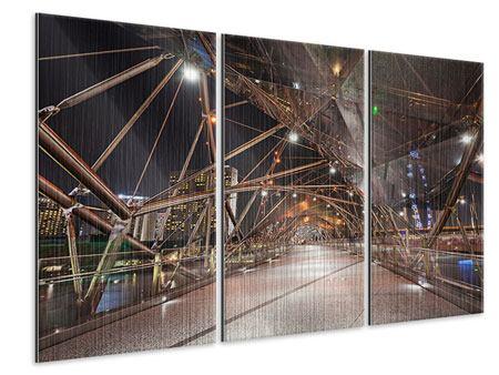 Metallic-Bild 3-teilig Brückenlichter
