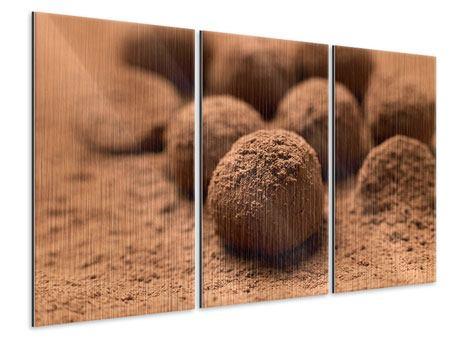 Metallic-Bild 3-teilig Trüffelpralinen