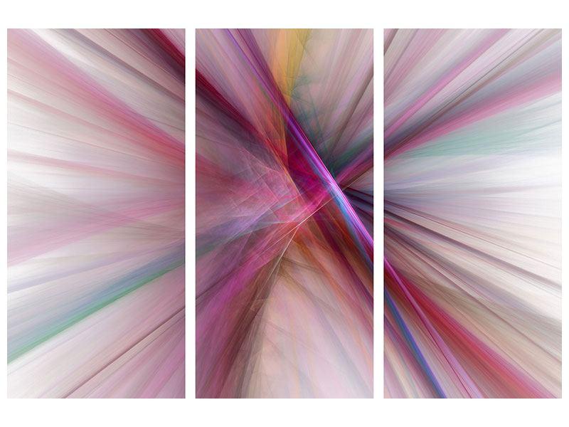 Metallic-Bild 3-teilig Abstraktes Lichterleuchten