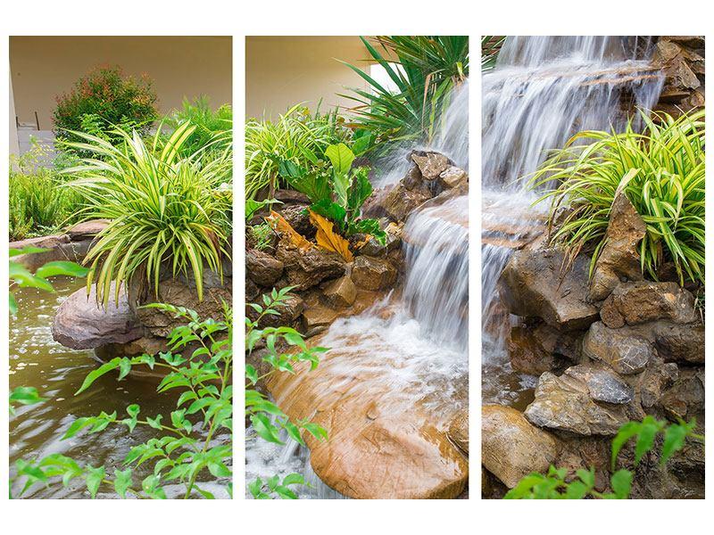 Metallic-Bild 3-teilig Paradiesgarten