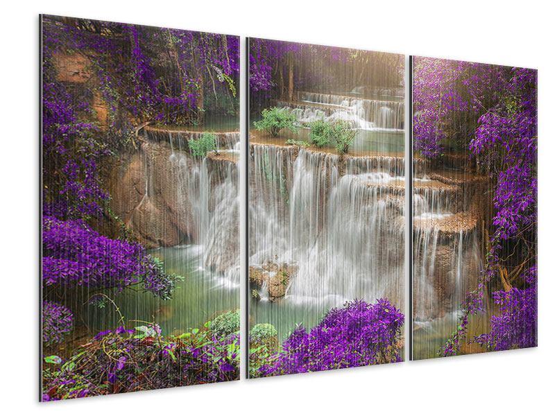 Metallic-Bild 3-teilig Garten Eden