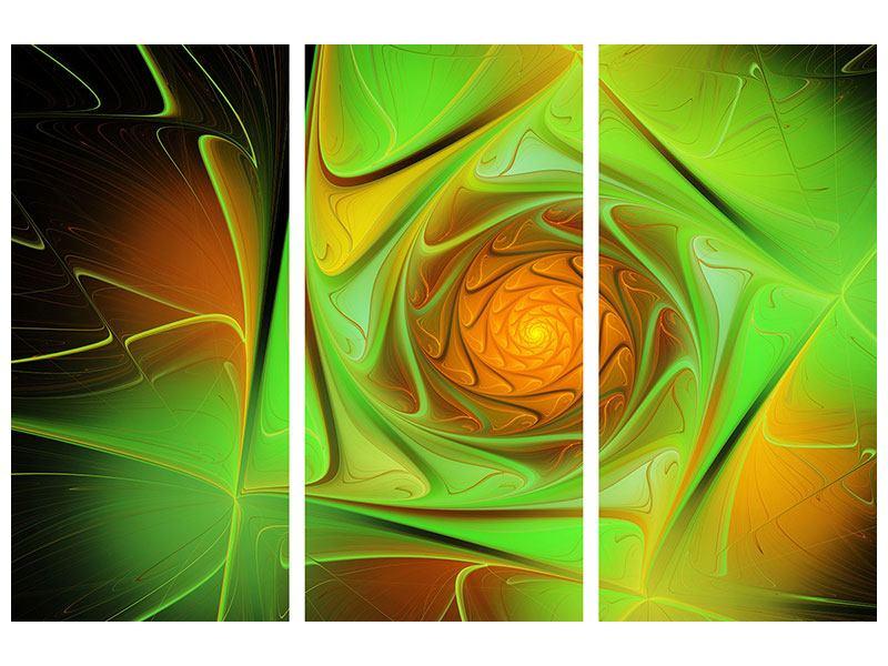 Metallic-Bild 3-teilig Abstraktionen