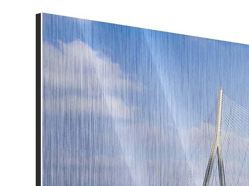 Metallic-Bild 3-teilig Die Pont de Normandie