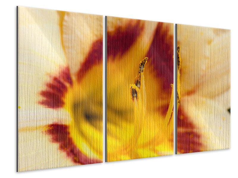 Metallic-Bild 3-teilig Riesenlilie