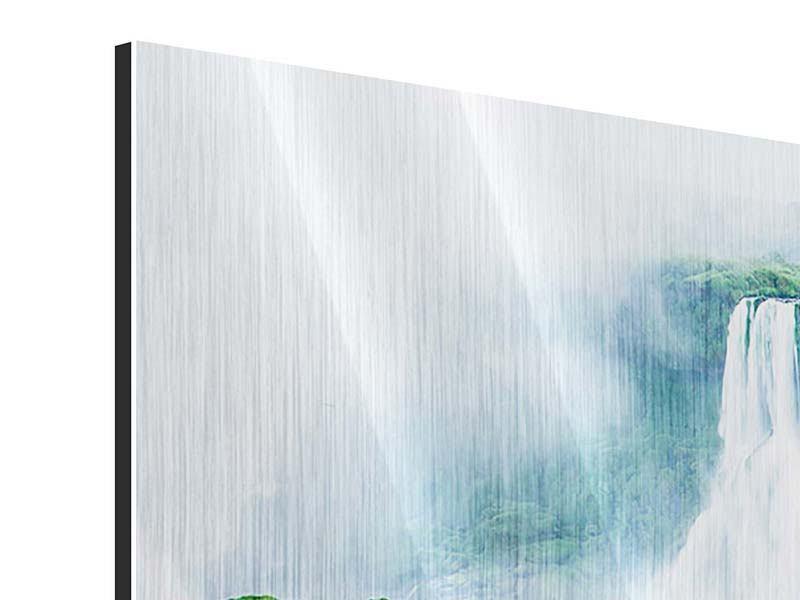 Metallic-Bild 3-teilig Wasserfälle