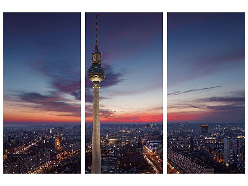 Metallic-Bild 3-teilig Berlin