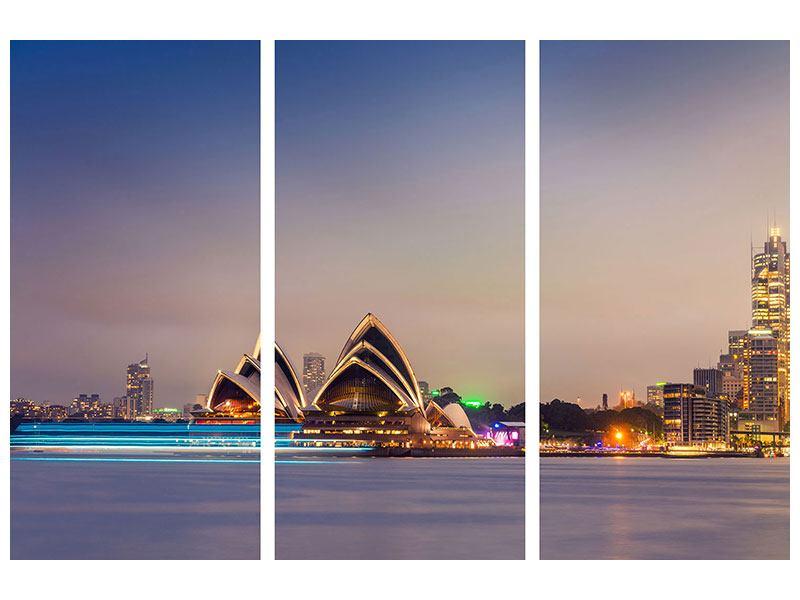Metallic-Bild 3-teilig Opera House