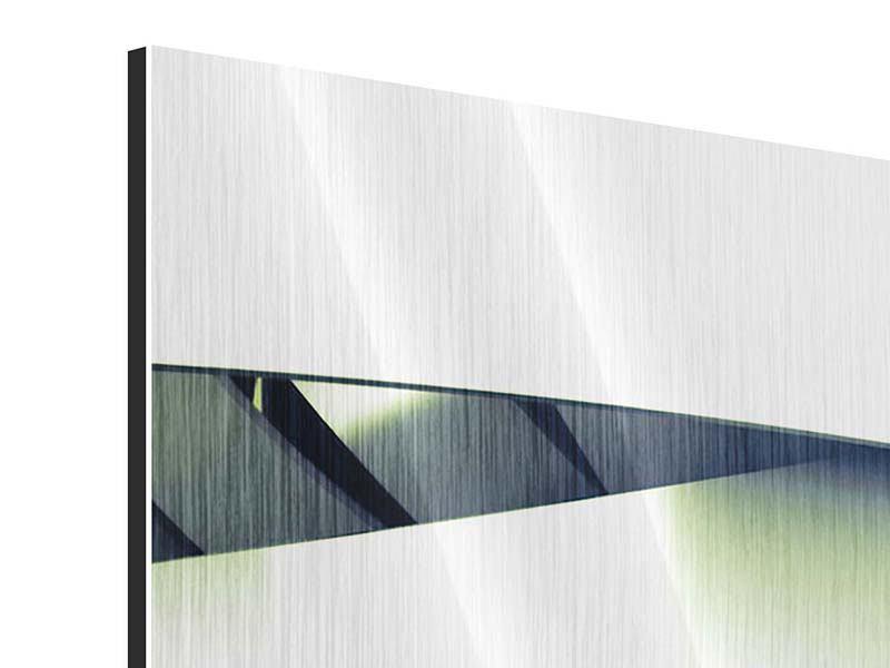 Metallic-Bild 3-teilig Abstrakte Perspektiven