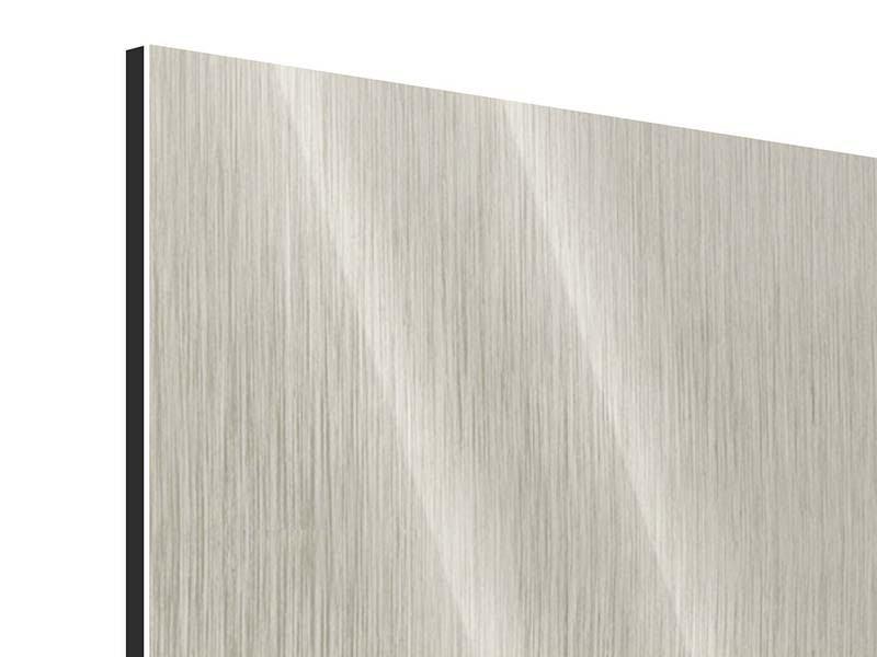 Metallic-Bild 3-teilig Close Up Wolkenkratzer