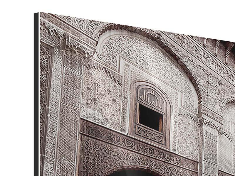 Metallic-Bild 3-teilig Orientalischer Hinterhof
