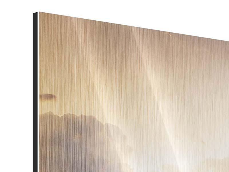 Metallic-Bild 3-teilig Das Ufer
