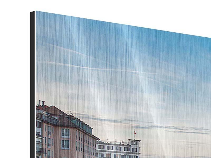 Metallic-Bild 3-teilig Kosmopolitisches Zürich