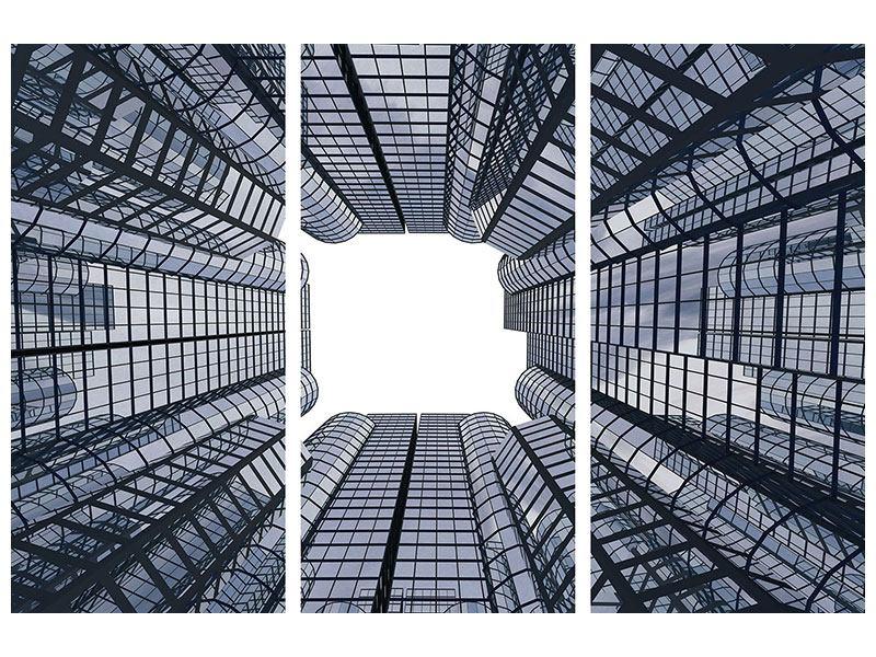 Metallic-Bild 3-teilig Besondere Perspektive