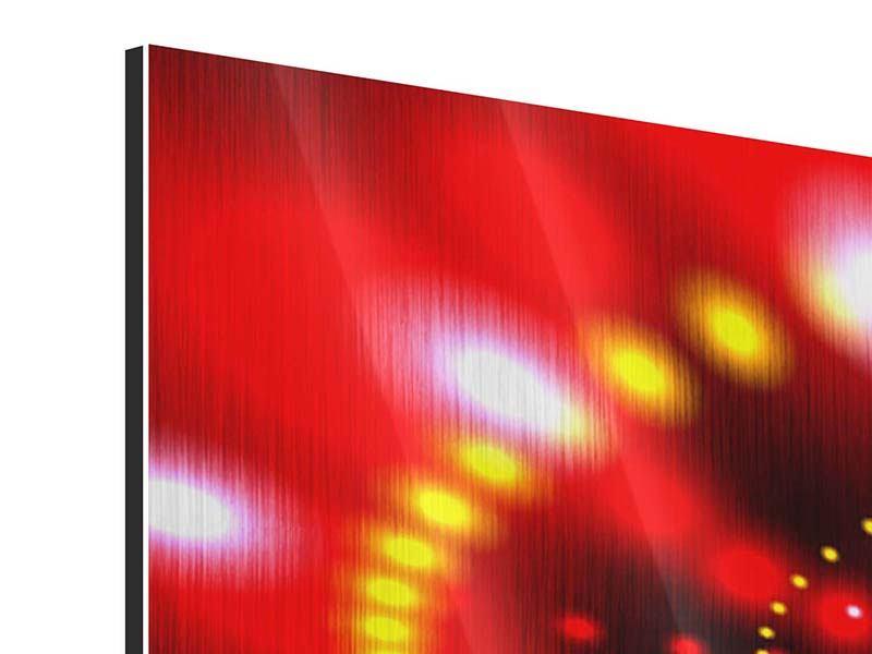 Metallic-Bild 3-teilig Abstraktes Lichtspiel