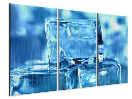 Metallic-Bild 3-teilig Eiswürfel XXL