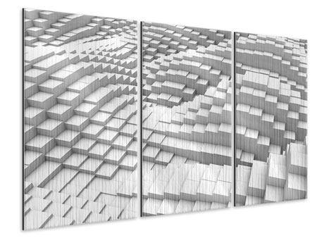 Metallic-Bild 3-teilig 3D-Elemente