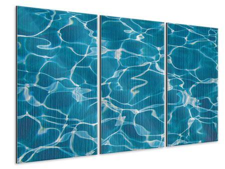 Metallic-Bild 3-teilig Pool