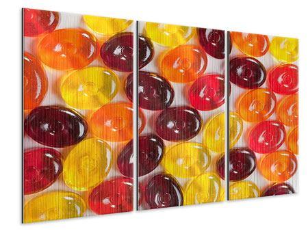 Metallic-Bild 3-teilig Bonbons