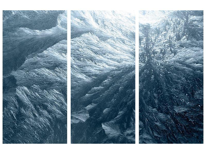 Metallic-Bild 3-teilig Eis