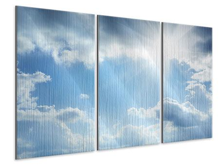 Metallic-Bild 3-teilig Himmelshoffnung