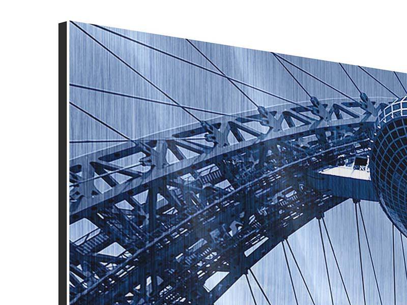 Metallic-Bild 3-teilig Schiwopisny-Brücke