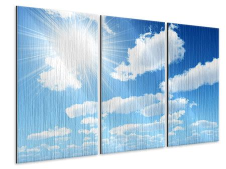 Metallic-Bild 3-teilig Am Himmel