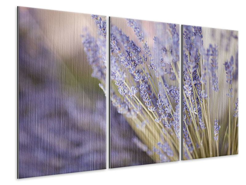 Metallic-Bild 3-teilig Lavendel XXL