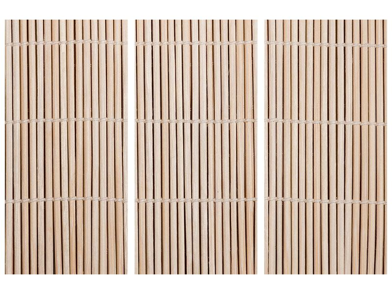 Metallic-Bild 3-teilig Lucky Bamboo