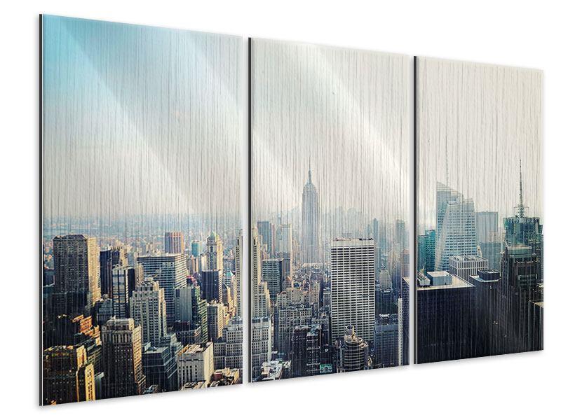Metallic-Bild 3-teilig NYC