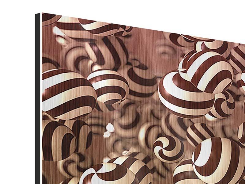 Metallic-Bild 3-teilig Schokoladen-Bonbons