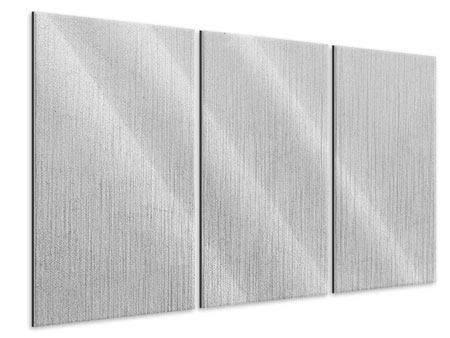 Metallic-Bild 3-teilig Beton in Hellgrau