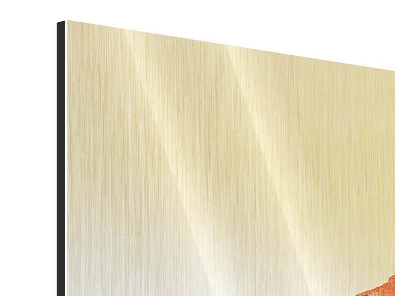 Metallic-Bild 3-teilig Wasserspiegelung